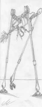 Tripod Walking - Sketch by EUAN-THE-ECHIDHOG