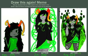 One More Time - Art Improvement Meme #2 by CupcakeForMyKitten