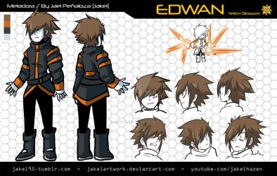 [METADORA] EDWAN CHARACTER SHEET by JakeiArtwork