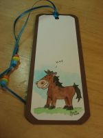 brown horse bookmark by beckadoodles