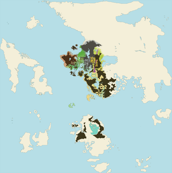 The Full world of Tyria by joeltopian