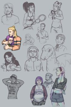 Runaways Sketches by kaileighblue