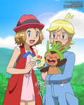 PKM :: Serena, Clemont and Chespin :: EDIT POSTER by Sunney90