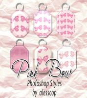 6 Pink Bow Styles Set by alesscop