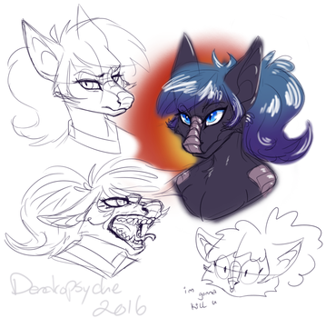 Sky Dragonfury sketches by Dendropsyche