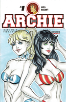 Swimsuit Betty and Veronica by AerianR