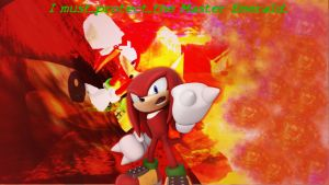 Knuckles The Echidna background by infersaime