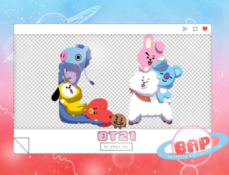 Pack Png 1379 // BT21 by BEAPANDA