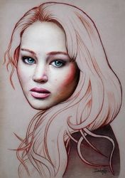 Jennifer Lawrence by salomnsm