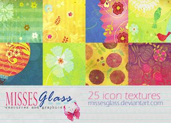 25 Scrapbook icon textures by Missesglass