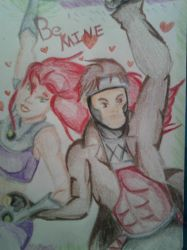 Starfire and Gambit - Be Mine by GeminiCalico