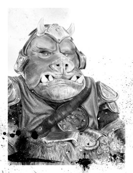 Sad Gamorrean guard by SixPixeldesign