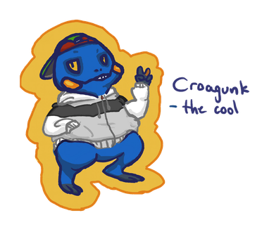 Croagunk the cool guy by Dompap
