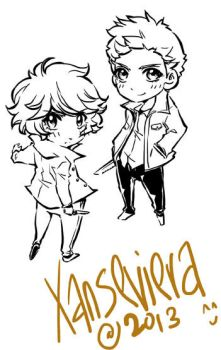 Supernatural+chibi commission by xanseviera