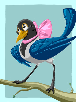 Maggie The Magpie by PineappleSodaCat