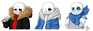 Fell, Sans and Blueberry by Yuyhin