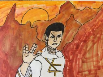 Inktober day 11: Spock on Vulcan by AoiKuroNeko