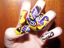 Cream Egg Nail Art 2 by DarkShadowChibi