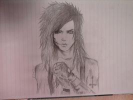 Andy Biersack -5- by FacelessMachine
