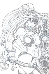 Red Monika with a little Darksiders by acomicworld