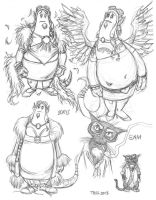 Early Concept art for The Rascals 3 by TessFowler