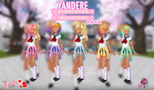 MCL pack- Yandere Simulator Bullies by FNAFfanart67