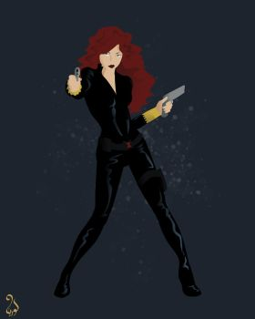 Marvel Women - A to Z - Black Widow by astarayel
