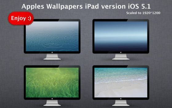 Apples Wallpapers iPad version iOS 5.1 by Mr-Ragnarok