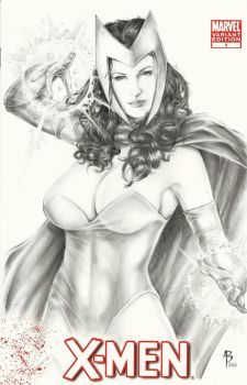 Scarlet Witch sketch cover by abraun