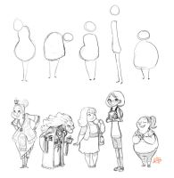 Character Shape Sketching 3 (with video link) by LuigiL