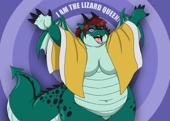 I AM THE LIZARD QUEEN by PudgeyRedFox
