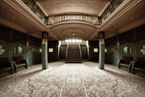the foyer of theater PP by APPELBOOM
