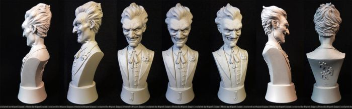 Joker Mini-Bust by miguelzuppo