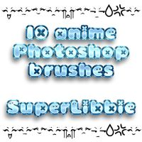 Anime Photoshop Brushes by superlibbie
