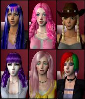Sims 2: MLP Mane six DOWNLOAD IN DESCRIPTION by Ilona-the-Sinister