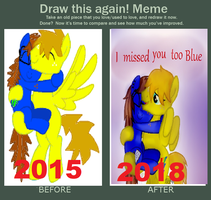 Draw this again meme by BlueBookWard