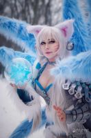 Ice Ahri in winter by Daraya-crafts