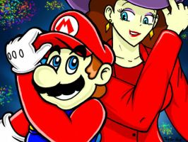 Mario and Pauline by TaylorSwitch64
