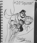 Inktober Day 20: Squeeze by FeralDoodle