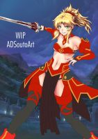 WIP Mordred Clothes ver. Background update by ADSouto