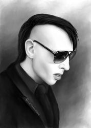 Manson (Wrong Cops) by Comablack-white