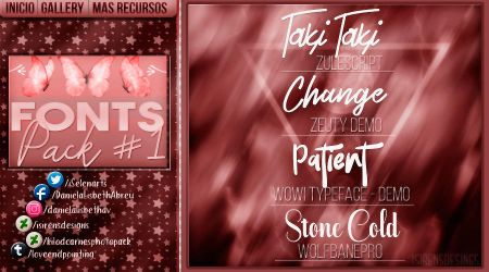 ~.Pack de fonts #2 by ISirensDesigns