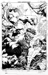 X-Men vs Hulk 1 Cover Lineart by davidyardin