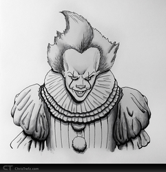 Pennywise Sketch by chris-illustrator