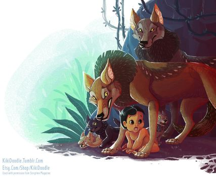 Jungle Book Mama Wolf by kiki-doodle