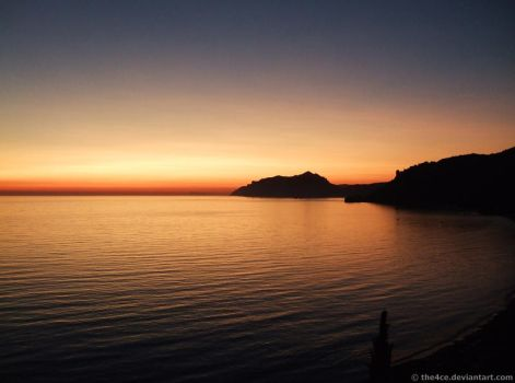 Sunset in Agios Gordios by the4ce