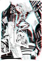 Spider-Man 2099 in 3D Anaglyph by xmancyclops