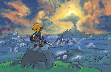 Breath of the Wild Box Art - Wind Waker Edition by miro42