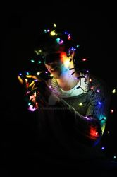 Christmas lights attack by margiel