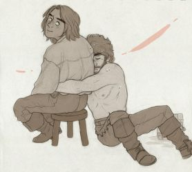 Don't leave [Athos and d'Artagnan] by ProfDrLachfinger